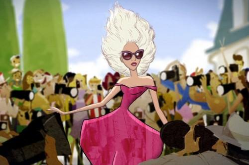 Lady gaga diventa un cartone animato per la disney